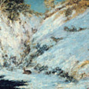 Snowy Landscape Print by Gustave Courbet