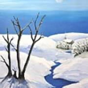 Snowy Scene Print by Reb Frost