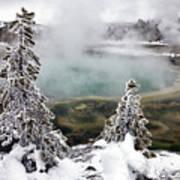Snowy Yellowstone Print by Jason Maehl