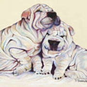 Snuggles  Print by Pat Saunders-White
