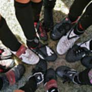 Soccer Feet Print by Kelley King
