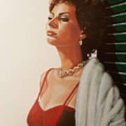Sophia Loren 2  Print by Paul Meijering