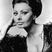 Sophia Loren, In Costume For Arabesque Print by Everett