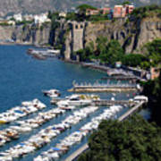 Sorrento Seaport Print by Mindy Newman