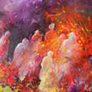 Souls In Hell Print by Miki De Goodaboom