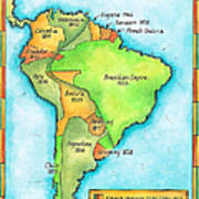 South American Independence Print by Jennifer Thermes