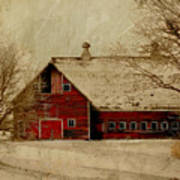South Dakota Barn Print by Julie Hamilton
