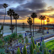Southern California Sunset Print by Sean Foster