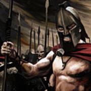 Spartans 300 Print by James Shepherd
