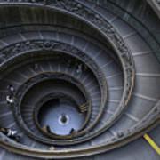 Spiral Staircase Print by Maico Presente