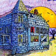 Spooky House Print by Jame Hayes
