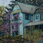 Springtime In Old Town Print by Mary Benke
