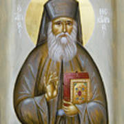 St Nektarios Of Aigina Print by Julia Bridget Hayes