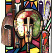 Stain Glass Print by Anthony Burks Sr