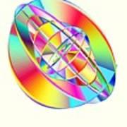 Steampunk Gyroscopic Rainbow Print by Michael Skinner