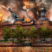 Steampunk - The War Has Begun Print by Mike Savad