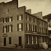 Stephensons Hotel - Harpers Ferry  West Virginia Print by Bill Cannon