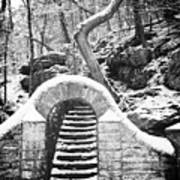 Steps Along The Wissahickon Print by Bill Cannon