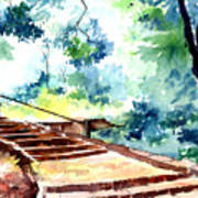 Steps To Eternity Print by Anil Nene