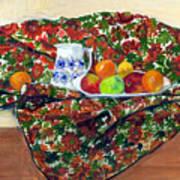 Still Life With Fruit Print by Ethel Vrana