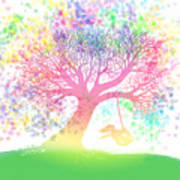 Still More Rainbow Tree Dreams 2 Print by Nick Gustafson