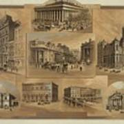 Stock Exchanges In New York, Paris Print by Everett