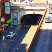 Stockton Street Tunnel In Heavy Shadow . Long Version Print by Wingsdomain Art and Photography