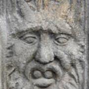 Stone Face Print by Michal Boubin