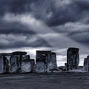 Stonehenge Print by  Jaroslaw Grudzinski