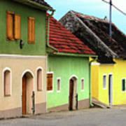 Street Of Wine Cellar Houses  Print by Mariola Bitner