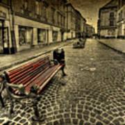 Street Seat Print by Evelina Kremsdorf