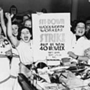 Striking Women Employees Of Woolworths Print by Everett
