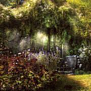 Summer - Landscape - Eve's Garden Print by Mike Savad