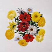 Summer Bouquet Print by Dy Witt