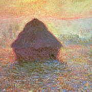 Sun In The Mist Print by Claude Monet