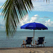Sunday Morning At The Beach In Key West Print by Susanne Van Hulst