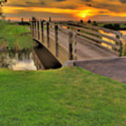 Sunset Foot Bridge Print by Dale Stillman