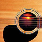 Sunset In Guitar Print by Garry Gay
