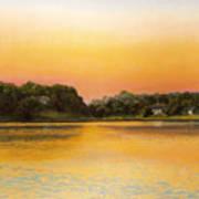 Sunset Lake Print by Joan Swanson