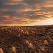 Sunset On The Ridge Print by James Steele