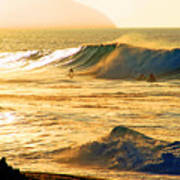 Sunset Surfers Print by Kevin Smith