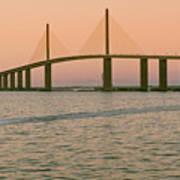 Sunshine Skyway Bridge Print by Ixefra