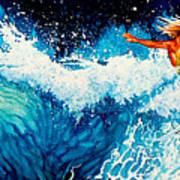 Surfer Girl Print by Hanne Lore Koehler