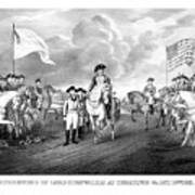 Surrender Of Lord Cornwallis At Yorktown Print by War Is Hell Store