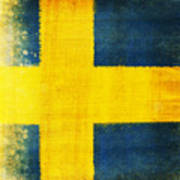 Swedish Flag Print by Setsiri Silapasuwanchai