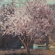 Sweet Kisses Under The Tree Print by Laurie Search