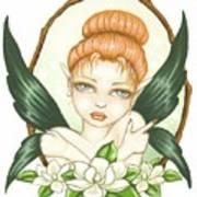 Sweet Magnolia Fae Print by Elaina  Wagner