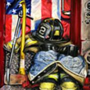 Symbols Of Heroism Print by Paul Walsh