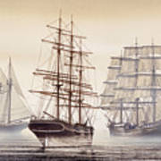 Tall Ships Print by James Williamson
