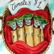Tamales One Dollar Print by Heather Calderon